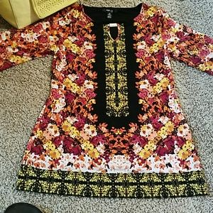 Floral Blouse or minidress Style & Co. Sz PM